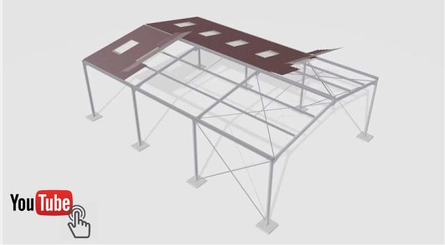einfache Stahl Struktur