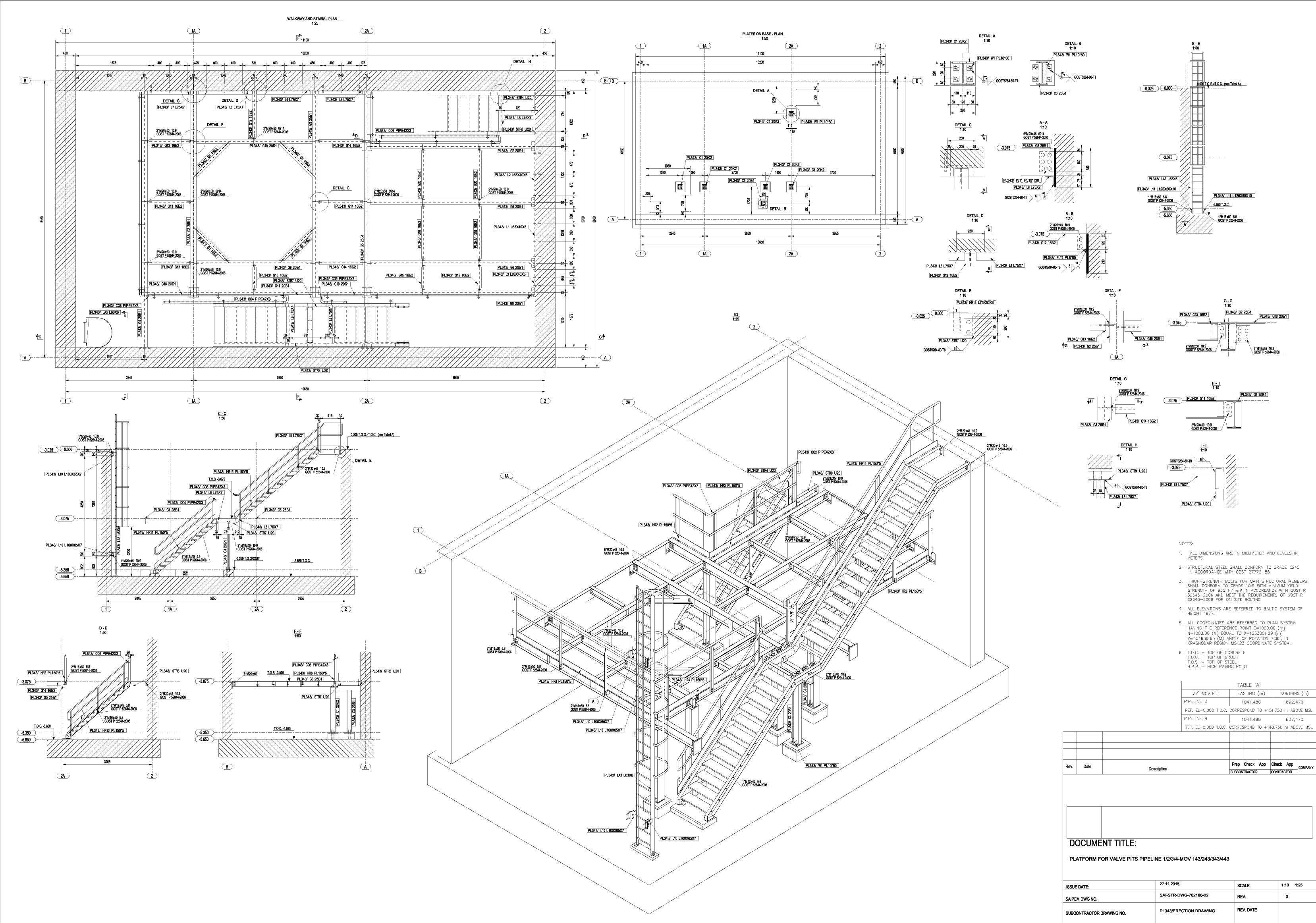 Stahl-treppen Plattform