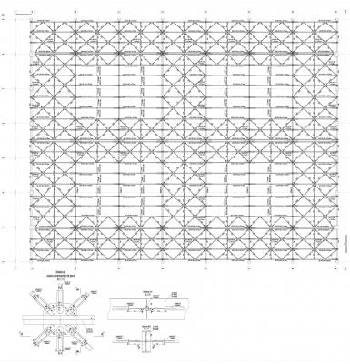 Montageplan Dachkonstruktion